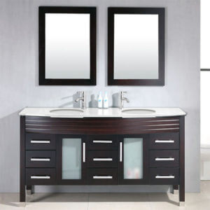 Double Basin Sink Bathroom Vanity, TC729C