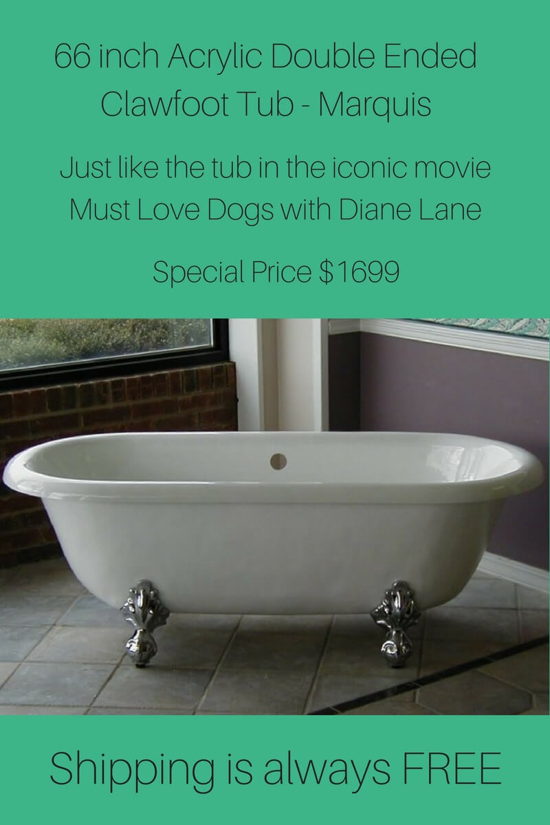 Famous Vintage Clawfoot Tubs, Double Ended Tub, Dual Ended Tub,