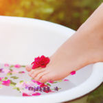 Lady's Foot, Bathtub, Water, Flowers,
