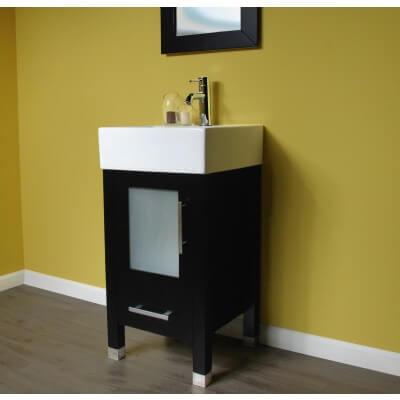 Bathroom Vanity Espresso Vessel Sink Vanity Small Vanity Wood